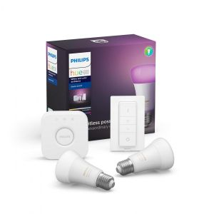 Philips Hue White & Color Startsett E27