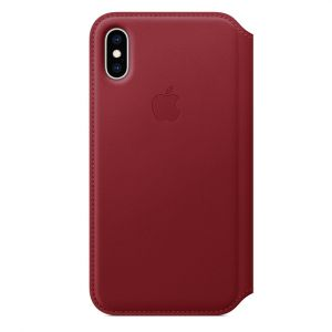 Apple folio-skinndeksel til iPhone XS – (PRODUCT)RED