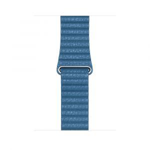 Apple Leather Loop 44 mm - Cape Cod Blue - large
