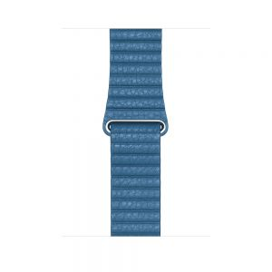 Apple Leather Loop 44 mm - Cape Cod Blue - large