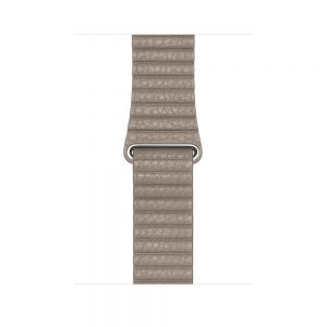 Apple Leather Loop 44 mm - Stone - large
