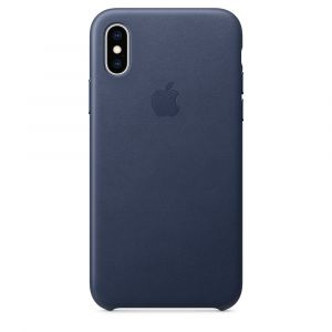 Apple skinndeksel til iPhone XS – midnight blue