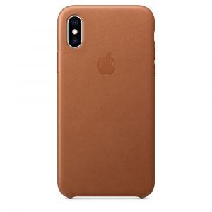 Apple skinndeksel til iPhone XS – saddle brown