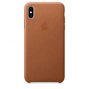 Apple skinndeksel til iPhone XS Max – saddle brown