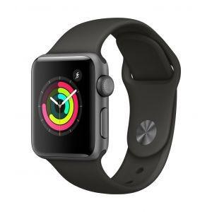 Apple Watch Series 3 GPS 38 mm - stellargrå med grå Sport Band