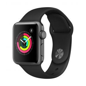 Apple Watch Series 3 GPS 38 mm - stellargrå med svart Sport Band
