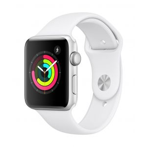 Apple Watch Series 3 GPS 42 mm - sølv med hvit Sport Band