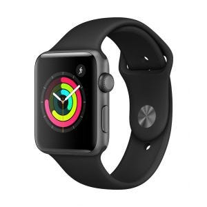 Apple Watch Series 3 GPS 42 mm - stellargrå med svart Sport Band