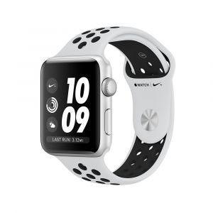 Apple Watch Series 3 GPS 42 mm Nike+ - sølv med platina/svart Nike Sport Band