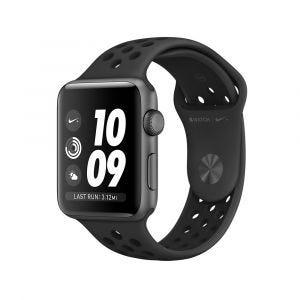 Apple Watch Series 3 GPS 42 mm Nike+ - stellargrå med antrasitt/svart Nike Sport Band
