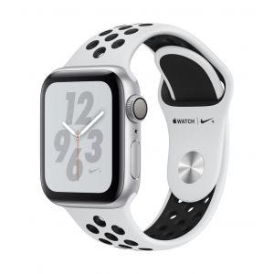 Apple Watch Series 4 Nike+ GPS 40 mm - sølv med platina/svart Nike Sport Band