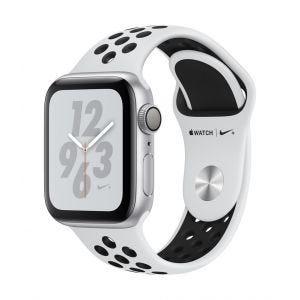 Apple Watch Series 4 Nike+ GPS 40 mm - sølv med platina/svart Nike Sport Band