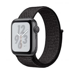 Apple Watch Series 4 Nike+ GPS 40 mm - stellargrå med svart Nike Sport Loop