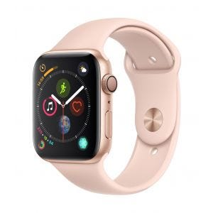 Apple Watch Series 4 GPS 44 mm - gull med sandrosa Sport Band