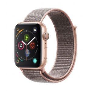 Apple Watch Series 4 GPS 44 mm - gull med sandrosa Sport Loop