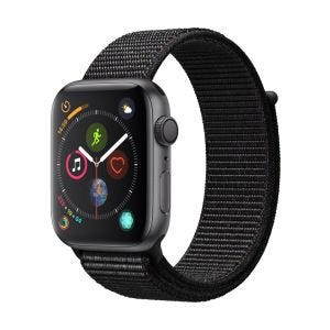 Apple Watch Series 4 GPS 44 mm - stellargrå med svart Sport Loop