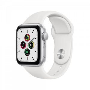 Apple Watch SE GPS 40 mm - Sølv med hvitt Sport Band