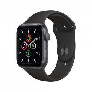 Apple Watch SE GPS 44 mm - Stellargrå med svart Sport Band
