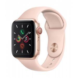 Apple Watch Series 5 Cellular 40 mm - Aluminium i gull med Sandrosa Sport Band