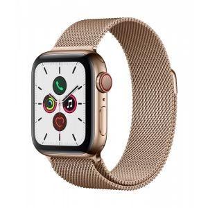 Apple Watch Series 5 Cellular 40 mm - Rustfritt stål i gull med Milanese Loop