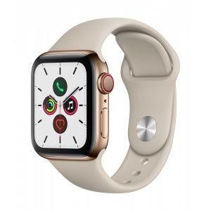 Apple Watch Series 5 Cellular 40 mm - Rustfritt stål i gull med stone Sport Band