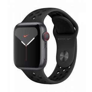 Apple Watch Series 5 Nike+ Cellular 40 mm - stellargrå med antrasitt/svart Nike Sport Band