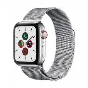 Apple Watch Series 5 Cellular 40 mm - Rustfritt stål i sølv med Milanese Loop