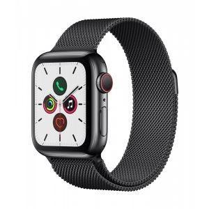 Apple Watch Series 5 Cellular 40 mm - Rustfritt stål i svart med Milanese Loop