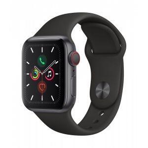 Apple Watch Series 5 Cellular 40 mm - Aluminium i stellargrå med svart Sport Band