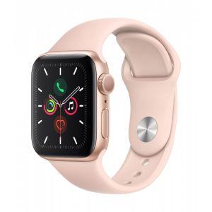 Apple Watch Series 5 GPS 40 mm - Gull med sandrosa Sport Band