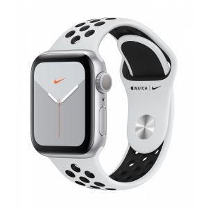 Apple Watch Series 5 Nike+ GPS 40 mm - sølv med platina/svart Nike Sport band