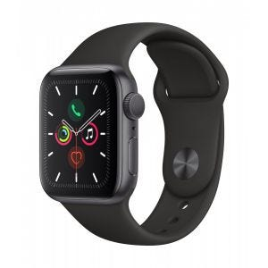 Apple Watch Series 5 GPS 40 mm - Stellargrå med svart Sport Band