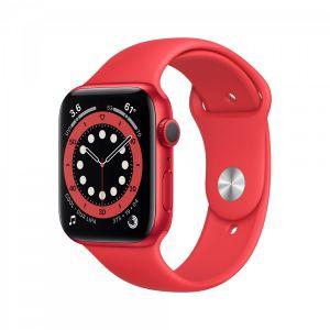 Apple Watch Series 6 44 mm Aluminium - Rød med rødt sport band