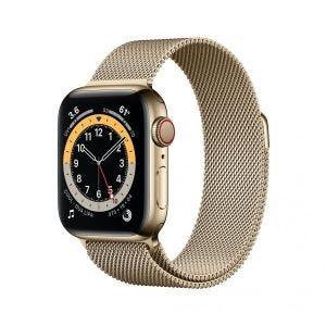 Apple Watch Series 6 Cellular 40 mm - Rustfritt stål i gull med Milanese Loop i gull