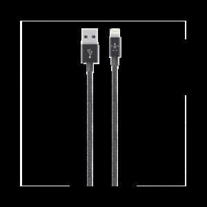 Belkin 1,2m MIXIT↑ Metallic USB til Lightning-kabel svart
