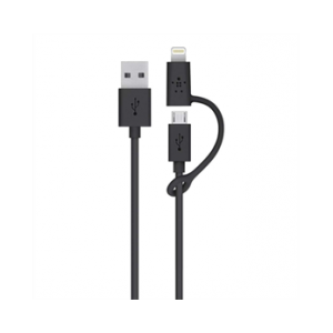 Belkin USB til Micro-USB og Lightning-kabel 0,9m