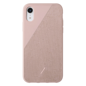 Native Union Clic Canvas-deksel for iPhone XR - Rose
