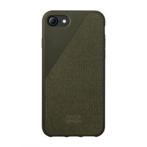 Native Union iPhone 8/7 Plus Clic Canvas-deksel i olivengrønn