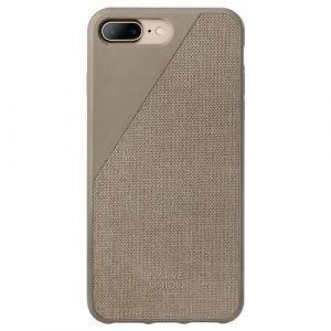Native Union iPhone 8/7 Plus Clic Canvas-deksel i muldvarpsgrå