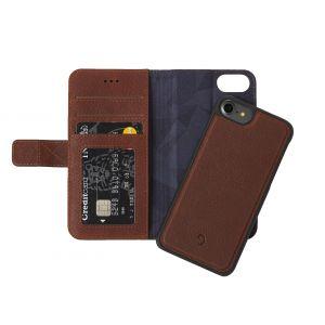 Decoded iPhone 8/7 lommeboketui 2-i-1 - brun