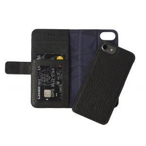Decoded iPhone 8/7 lommeboketui 2-i-1 - svart