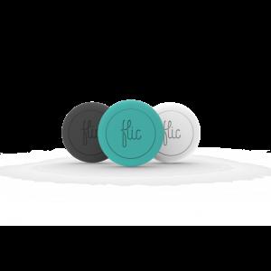 Flic - smartknapp 3-pakning svart, hvit og turkis