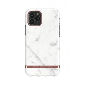 Richmond & Finch deksel til iPhone 11 Pro Max - White Marble/Rose