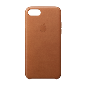 Apple skinndeksel for iPhone 8/7 - lærbrun