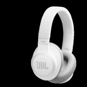JBL LIVE 650BTNC trådløse hodetelefoner med støykansellering - Hvit