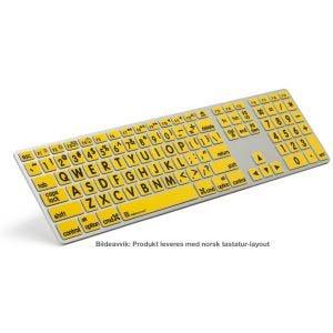 LogicKeyboard XLPrint tastatur med større bokstaver - svart på gul