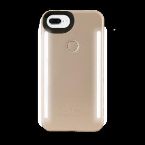 LuMee Duo selfie-deksel til iPhone 8 Plus/7 Plus - matt gull