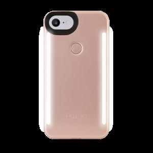 LuMee Duo selfie-deksel til iPhone 8/7 - matt rosa
