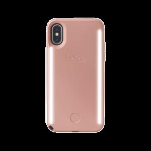 LuMee Duo selfie-deksel til iPhone XS - matt rosa