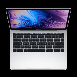 MacBook Pro 13-tommer med Touch Bar 2,3 GHz 256 GB  i sølv med amerikansk tastatur